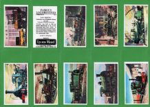 Famous Locomotives 1964 set of 40 cards mint